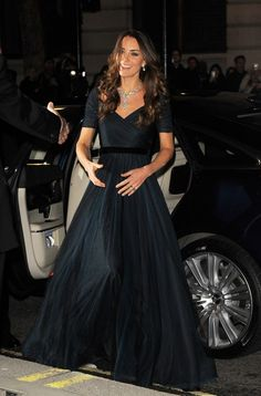 February 11, 2014 - Kate wearing Jenny Packham gown at National Portrait Gallery
