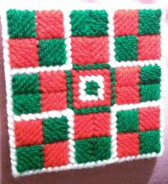 Plastic Canvas Coaster ( my design).