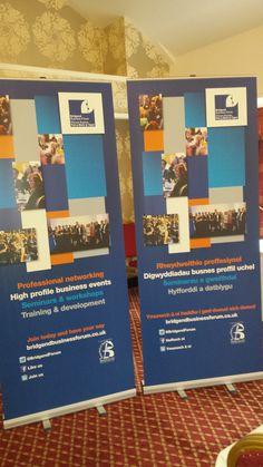 Bridgend Buisness Forum networking event pull up banner #graphic #design #bridgend #pullupbanner #bannerstands #events