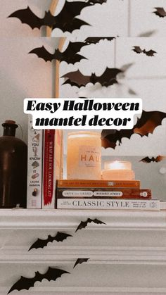 Black White Halloween, Classy Halloween, Halloween Mantel, Retro Halloween, Halloween Parties, Halloween Ghosts, Diy Halloween Decorations, Spirit Halloween, Holidays Halloween