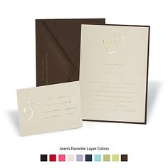 Michael's Champagne Shimmer Layered Invitation