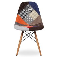 Chaise WOODEN TAPISSÉE MIX PATCHWORK SUPERSTUDIO 88€