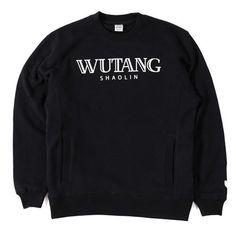 Wutang Brand Ltd Shaolin Luxury Crewneck in Black   Wutang Clan Official Website   Shop Wutang Clan Clothes & Apparel Online