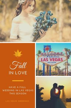 Fall season is the perfect time to get hitched. Head to Las Vegas for a beautiful and mesmerizing fall wedding. A special place for your special day.