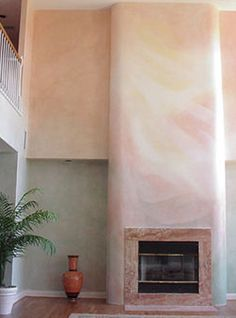 Lazure painting, high walls feature
