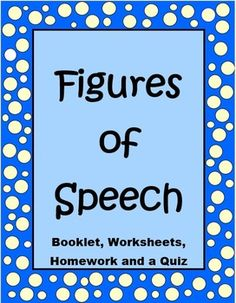 This 20 page Figures of Speech unit has everything you need to teach idioms, metaphors, similes, hyperboles and personification.The worksheets included are really fun for your students (and for you). I love teaching these concepts to my kids!