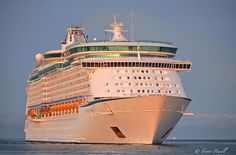 Voyager of the Seas arriving at Port Adelaide - 28 March 2015.