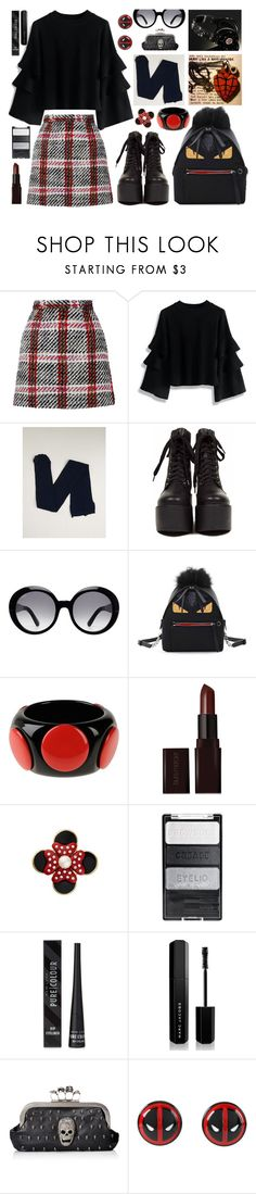 """071116B"" by terebol ❤ liked on Polyvore featuring Carven, Chicwish, Biba, Tod's, Fendi, First People First, Laura Mercier, Mawi, New Look and Marc Jacobs"