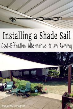 How to Install a Shade Sail for the Summer | #InspirationSpotlight