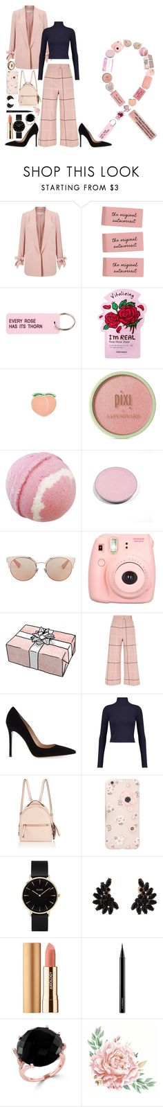 """October: Pink for Breast Cancer💕"" by andreab6 ❤ liked on Polyvore featuring Miss Selfridge, Various Projects, TONYMOLY, PINTRILL, Pixi, CASSETTE, Chantecaille, Christian Dior, Polaroid and River Island"