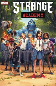 Strange Academy Cover F Incentive Humberto Ramos Design Variant Cover Marvel Now, Captain Marvel, Marvel Avengers, Marvel Comic Books, Marvel Characters, Brother Voodoo, Buy Comics, The Ancient One, Marvel Series