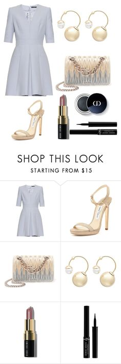 """""""Formal Dress"""" by dazzlers ❤ liked on Polyvore featuring Alexander McQueen, Jimmy Choo, Miu Miu, Witchery, Bobbi Brown Cosmetics and Giorgio Armani"""