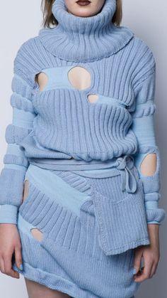 CUTOUT DETAIL- interesting sweater.