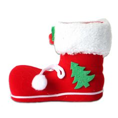 Christmas Ornament Supplies Candy Bag 1Pcs/lot Enfeite De Natal Medium Santa Claus Santa Sacks Shoes Crafts Decoration SD58