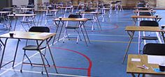 sfeerbeeld: lege examenklas