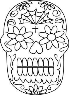Dibujos para colorear, Dia de muertos II | Mundo noticias de hoy