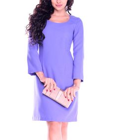 Another great find on #zulily! Lilac Three-Quarter Sleeve Dress - Plus Too #zulilyfinds
