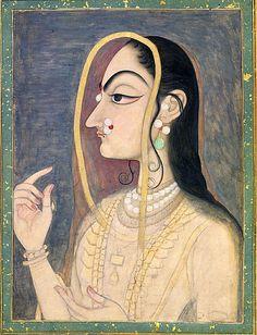 Radha, the Beloved of Krishna Date: ca. 1750 Culture: India (Rajasthan, Kishangarh)