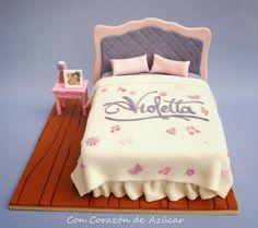Tarta Violetta - Receta Pastillaje rápido para construcciones