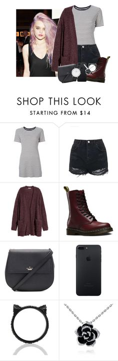 """- sits in the corner booth with a beer in my hand -"" by the-infinite-anons ❤ liked on Polyvore featuring Theory, Topshop, H&M, Dr. Martens, Kate Spade and CLUSE"