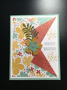 March Stamp Camp Card #1 - Stamp Set: Botanical Blooms & Crazy About You with Botanical Builder Framelits Dies. DSP: Botanical Gardens Technique: Collar Fold.