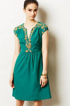 Zabby Maxi Dress - anthropologie.com I pretty much only dig on the top half though. I can't wear a waist cut at that height.
