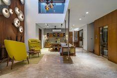 Unique Sofas, Rooftop Patio, Patio Design, Amazing Architecture, Park, Living Room, Studio, Table, Furniture
