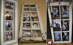 Very cool idea. Using old window frames - leaving them cracking/peeling gives a nice rustic/aged look. Watch out for splinters ;)