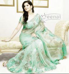 Zareen Khan in Designer Embellished Saree