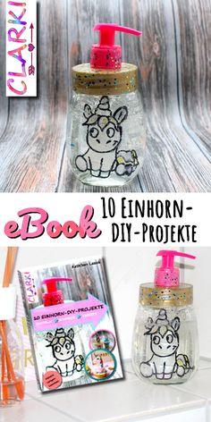 """Süßes eBook mit Rezepten, Schmuckanleitungen und Deko-DIYs: """"10 Einhorn-DIY-Projekte"""" Jedes DIY wird ausführlich und bebildert erklärt. Awww! (Affiliate Link)"""