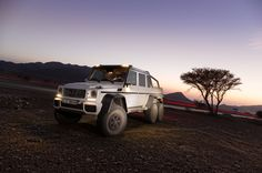 6x6 Mercedez G63. Power is rated at 536bhp, with 560lb ft of torque.