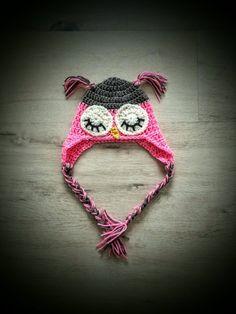 Owl hatCrochet owl hatbaby owl hatnewborn owl by Amaiahandmade