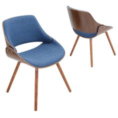 Fabrizzi Walnut Mid-century Modern Chair | Overstock.com Shopping - The Best Deals on Dining Chairs