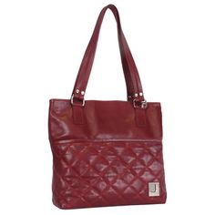 #JOANEL 1P-4278 #LEATHER #BAGS Material: Leather Color(s): ANTIQUE RED Length: 14  Height: 13  Depth: 4 Genuine Leather Tote
