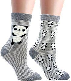 LITTONE Women's Cozy Cotton Cartoon Crew Novelty Socks 2 Pairs Women Socks, Novelty Socks, Cotton Socks, Animal Design, Crew Socks, Fashion Brands, Topshop, Lingerie, Babies