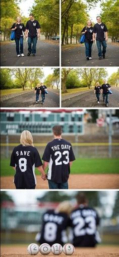 This is an awesome idea for wedding engagement pictures