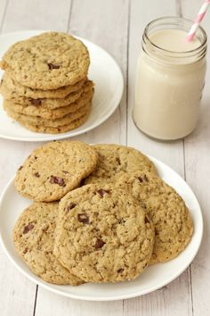 Vegan chocolate chip cookies that are soft, chewy, slightly-crunchy, sweet and satisfying. Also - super easy to make! Perfect as a snack or dessert.