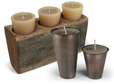 Rustic sugarmold candle holders direct from Mexico