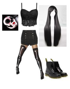 """""""Untitled #70"""" by tiamouse on Polyvore featuring Pierre Balmain and Dr. Martens"""