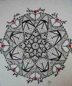 Zentangle mandala Mandala Doodle, Tangle Doodle, Tangle Art, Zen Doodle, Mandala Art, Doodle Art, Mandalas Painting, Mandalas Drawing, Zentangle Drawings