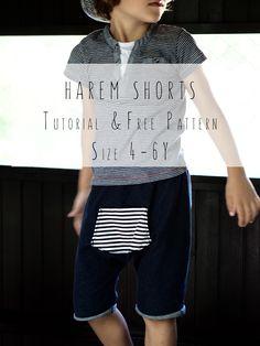 Harem shorts sewing pattern   indie peek