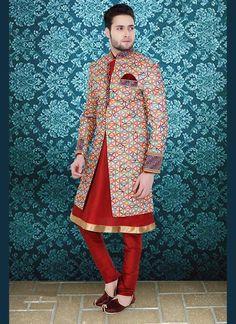 Bollywood Mens Indostyle Indian Dress Designer Wedding Sherwani Readymade Ethnic #tanishifashion
