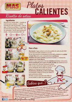 Rissotto de setas Pasta Recipes, Diet Recipes, Tapas, Ale, Food Porn, Vegetarian, Yummy Food, Favorite Recipes, Cooking