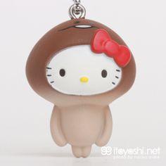 itoyoshi's Gotochi Kitty collection NO.1645 Nameko Saibai Kit collaboration Limited Nameko Saibai Kit × Hello Kitty・Nameko Hello Kitty