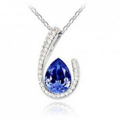$4.30 Brilliant Rhinestoned Crystal Pendant Alloy Necklace For Women