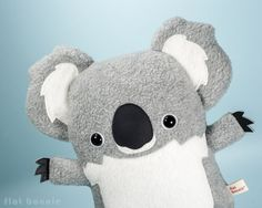 Koala plush stuffed animal - Cute koala soft toy - Handmade - Plush Stuffed Animal - Flat Bonnie - A portion of sales is donated to bunny and/or animal rescue organizations monthly.