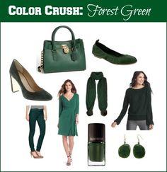 Crushing on forest green for fall 2013!  #fashion #fallfashion #trends #fashionblogger