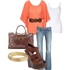 """""""My Style"""" by jbennett562 on Polyvore- not sure about the bag, but love the rest!"""