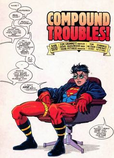 """Superboy by Tom Grummett & Karl Kesel - """"So I guess I don't exist and we're just wasting our time here..."""""""