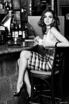 image_2.jpg (b,black and white,beautiful,hot,leggy,woman,girl,heels,bar,black hair)